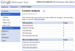 herramientas para webmasters de google