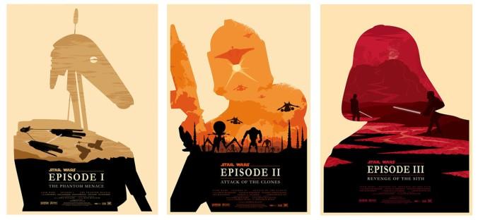 Olly Moss - Star Wars Episodes I, II y III